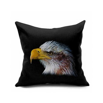 BAFFECT Generic Retro Cotton Linen Throw Animal Cushion Bed Pillow, 45x 45cm (Multi-color)