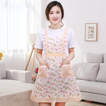 Comfy Kitchen Restaurant Floral Pocket Princess Apron