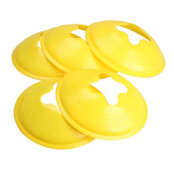 HKS 5X 18cm Space Marker Cone Discs Sports Training Cone Landmark Yellow