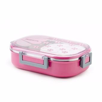 Lunch Box / Kotak Makan Tedemei - Pink - Stainless Steel Bento / Rantang / Tempat Sup