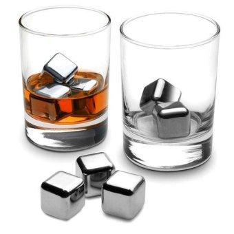 harga Reusable Stainless Steel Ice Cube 4Pcs Es Batu Stainless Bukalapak.com. Source · Text