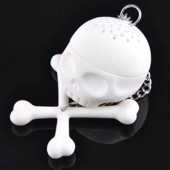 Cool Silicone T-Bones Bones Skull Infuser Loose Leaf Tea Strainer Filter Diffuser
