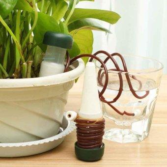 2 X Automatic Self Watering Drip Spike Flower Plant Sprinkler Irrigation System - intl