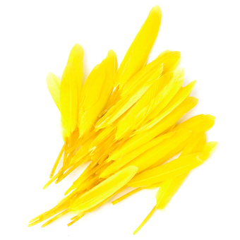 RIS Dyed Goose Feather 4-6in Yellow