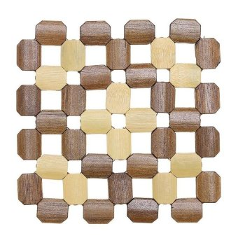 LZ Hollow Bamboo Insulation Against Hot Pot Mat Coasters - Square 40(16 * 16Cm) - intl