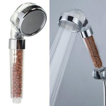 Harga 5pcs Bathroom Booster SPA Anion Water-saving Handheld Rain Shower Spray Head Nozzle