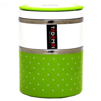 Stainless Steel Double Lunch Box (Green)
