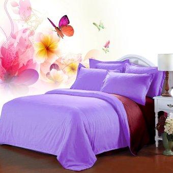 Jaxine Bedcover Katun Prada Polos Marun Lilac