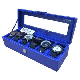 Harga Jogja Craft - Benheur Blue Watch Box / Tempat Jam / Kotak Jam Tangan Isi