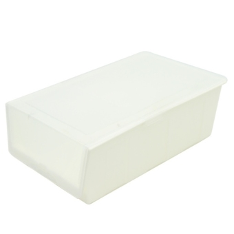 Lucky Thick Clamshell Shoe Storage Box (White) - intl