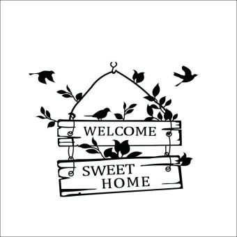 Harga Dan Spesifikasi 360dsc Athleisure Unique Letter Printed Source · Harga Welcome To Sweet Home Letters With Birds Wall Stickers Decal Mural Wallsticker ...
