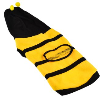 360DSC Polar Fleece Bumble Bee Dress Up Costume Pet Puppy Dog Cat Hoodie Coat Apparel Clothes - Yellow 16# (Intl)