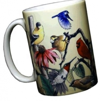 Garden Birds Ceramic Coffee Mug or Tea Cup - intl