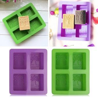 Tree Fondant Silicone Mold Silica Gel Diy Soap Cake Chocolatecookies Handmade - intl