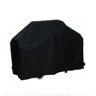 xupei Black Waterproof BBQ Cover Gas Grill Cover UV Protection Dust Proof BBQ Cover Gas Barbecue Grill Cover, Large