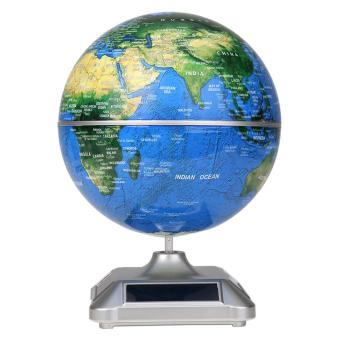 14mm Solar Powered Auto Spinning Rotary World Globes - intl