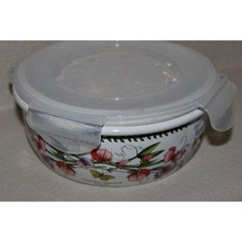 GPL/ Portmeirion Botanic Garden Round Ceramic Storage Jar with Lock Lid, 5.75 Inch/ship from USA - intl