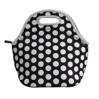 Homegarden Insulation Waterproof Thermal Lunch Bag Whitedot
