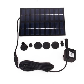 S & F GY-D-0018 Solar Powered Fountain Pool Garden Watering Kits (Black)