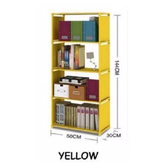 Universal Rak Buku Portable Rak Serbaguna 5 Lapis - Kuning