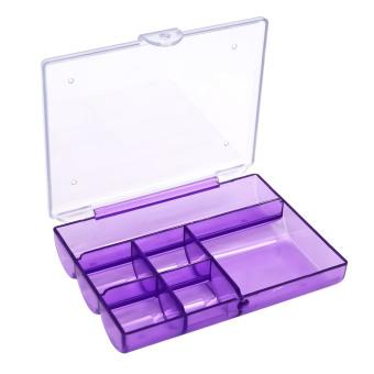 Harga Portabel mate 6 tabel jelas penyelenggara dudukan kotak penyimpanan perhiasan pil ungu