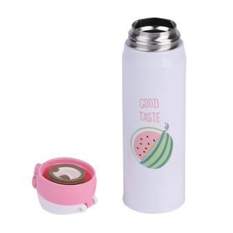USTORE Lovely Cartoon Fruit Stainless Steel Insulation Cup Portable Travel Drink Bottle - intl