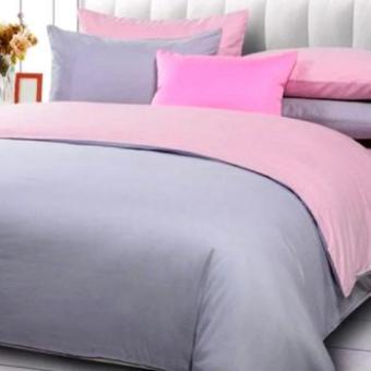 Alona Ellenov Sprei + Bedcover Polos Abu Muda Baby Pink Queen 160x200x20cm-Abu Muda