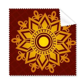 India Flavor Hinduism and Lotus Flower and Lattice Retro Illustration Glasses Cloth Cleaning Cloth Phone Screen Cleaner 5pcs - intl