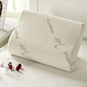 M&C 2Pcs 30x50cm Contour Rebound Memory Foam Pillow Bamboo FiberHealthHead Neck Support - intl