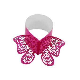 BolehDeals 50xButterfly Napkin Ring Serviette Holder Wedding Banquet Dinner Decor-Red - intl