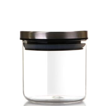 Clear Glass Storage Tank 750Ml Monochrome