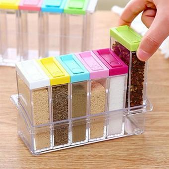 Harga Rak Tempat Bumbu Dapur 6 in 1 Seasoning Box Serbaguna Multicolour