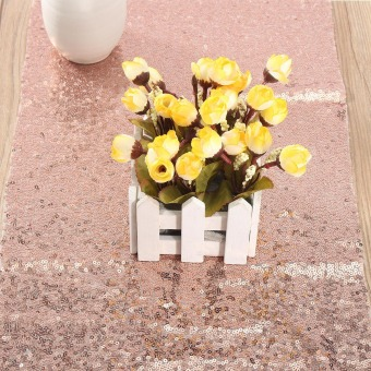 Wholesale Luxury Rose Gold Sequin Table Runners for Wedding Table,Choose Sizes ! - intl