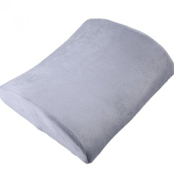 Memory Foam Lumbar Travel Pillow Back Support (Grey)