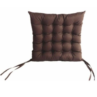 Faux Suede Chair Seat Cushion Pad Warm Soft Outdoor Dining 45 x 45 cm