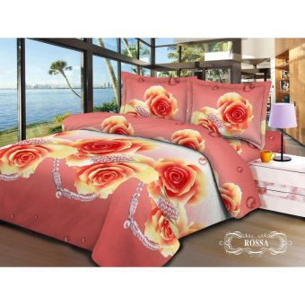 V-Bed Bed Cover + Sprei SET 120x200x30 No.3 Single Size - Rossa