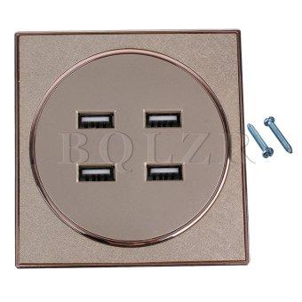Harga 4-Port USB Wall Socket Charger Gold