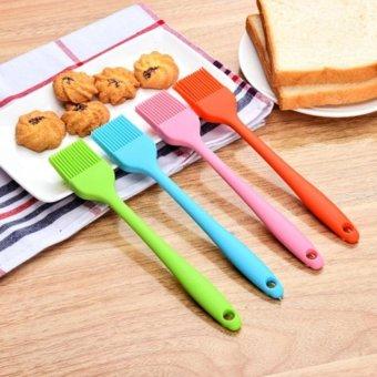 Lands Food-grade Safe Silicone Pastry Spatula Brush Baking Bakeware Cake Roasting Set - intl