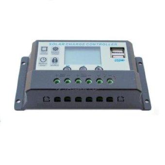 Panel Surya Solar Charger Controller USB Charger Baterai Batre Aki LCD display 12VDC 24VDC 10 Amp