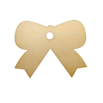BolehDeals 20pcs Wooden Bowknot Shape with Holes Art Embelishment