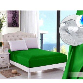 jaxine sprei waterproof/anti air+sarung BG hijau