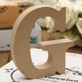 10x1.5cm THICK Wood Wooden 26 Letters Wedding Birthday Party Shop Alphabet Decor G - intl