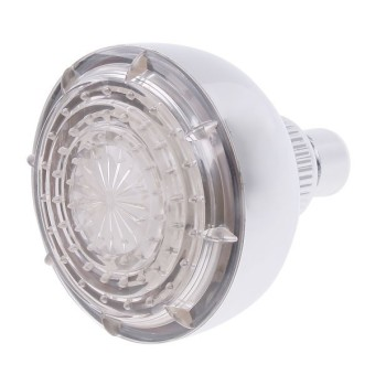 BolehDeals lampu LED kontrol suhu semprot RGB bercahaya kepala pancuran 7warnd berubah