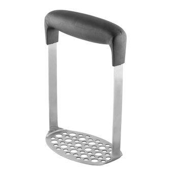 telimei Stainless Steel Potato Masher Food Grade Sweet Potato Ricer Vegetables and Fruits Masher with Horizontal Handle,Black + Sliver - intl