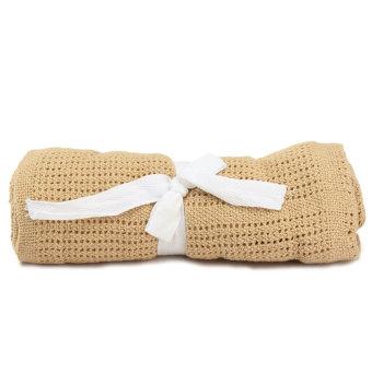 100 cm x 80 cm Kapas Bayi Seluler Menggunakan Selimut Lembut Ranjang Lumut Dorong Kopi