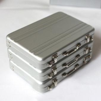 Lan Yu Fashion New Mini Code Case Aluminum Business Card Holder Name Card Holder Case Silver Hign Quality - intl