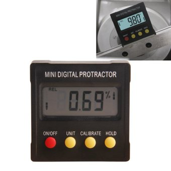 360 Degree Mini Digital Protractor Inclinometer Electronic LevelBox Magnetic Base Measuring Tools - intl