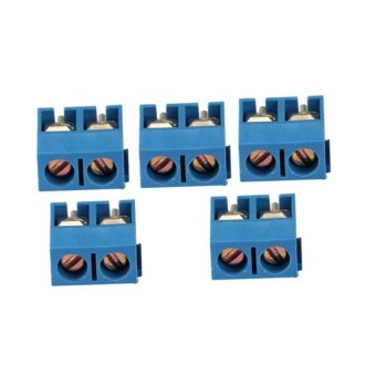 S & F New 100Pcs 5.08mm KF301-2P Blue Connect Terminal Screw Terminal Connector
