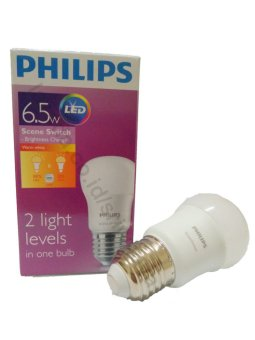 PHILIPS LED Scene Switch 2step 6.5W P45 E27 220-240V Dimmable - Kuning