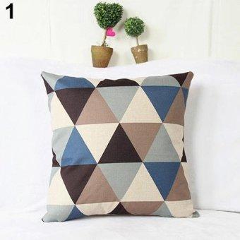 Sanwood Fashion Square Linen Throw Pillow Case Home Sofa Decoration 1 - intl